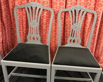 Sedie Stile Chippendale : Chippendale chair etsy