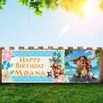 moana Personalized 6x2 Vinyl Birthday Banner Free Shipping