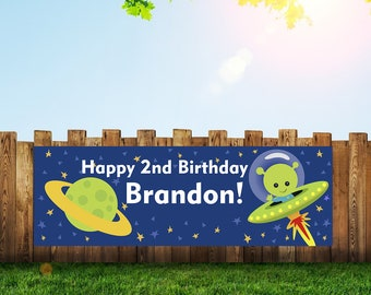 Birthday,Birthday Banner,Alien Birthday,Banner,Aliens