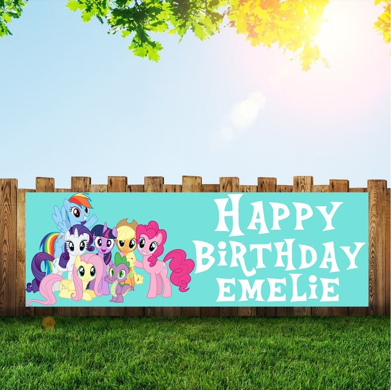 My Little Pony Birthday Party Banner Personalized/Custom image 0