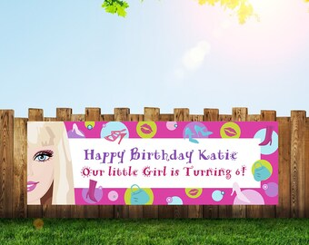 Barbie,Barbie Party,Banner,Barbie Birthday,Birthday