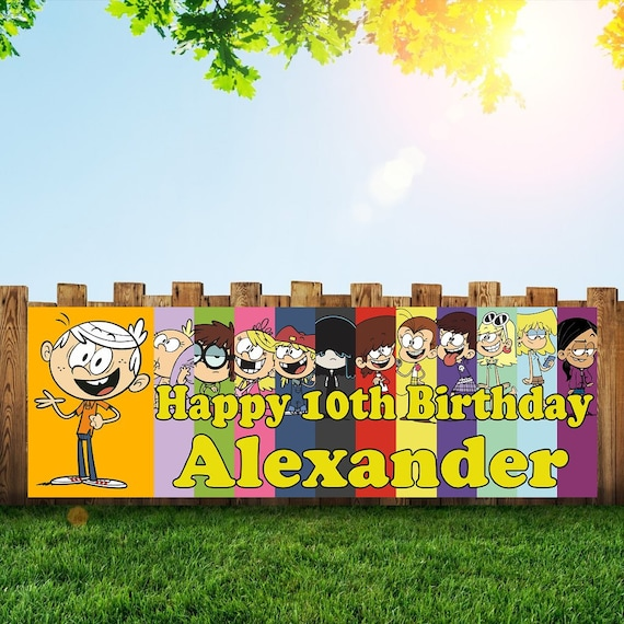 Loud House Personalized 6x2 Vinyl Birthday Banner Free Etsy