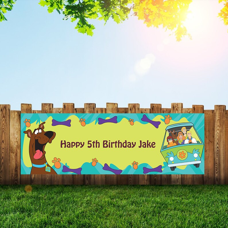 Scooby Doo Birthday Party Banner Personalized/Custom image 0