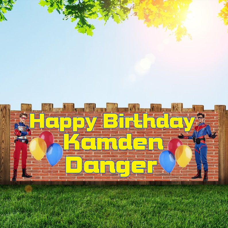 Henry danger Birthday Party Banner Personalized/Custom image 0