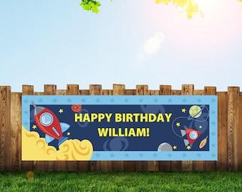 Spaceship,Space,Banner,Rocket,Birthday Banner