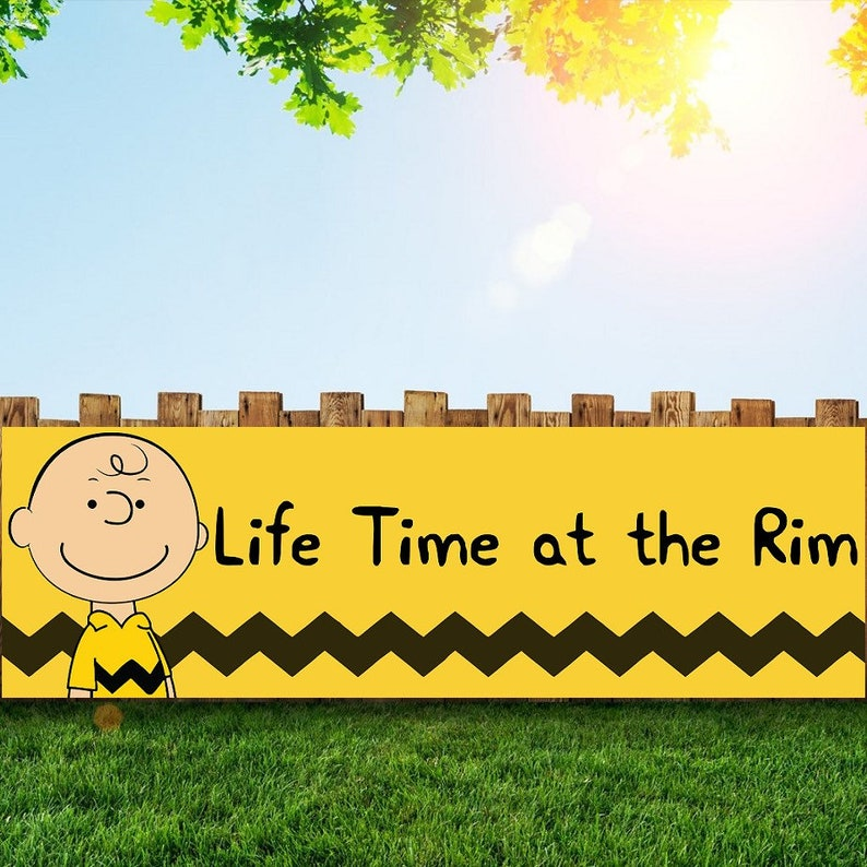 Charlie Brown Birthday Party Banner Personalized/Custom image 0