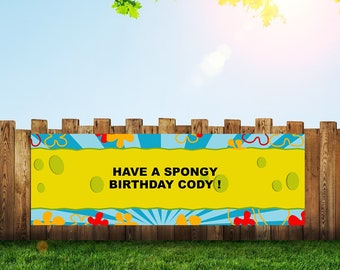 Sponge Bob,Banner,Spongebob,Party,Sponge