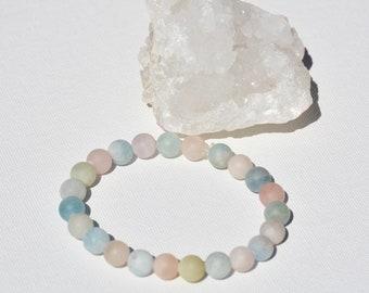 Morganite energy bracelet