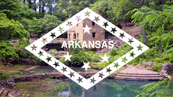 Arkansas Flag Sticker Decal Vinyl state the natural land