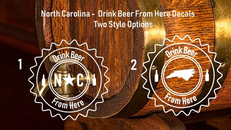 4045e6f8da657 North Carolina Drink Beer From Here Decal, Drink Beer From Here, North  Carolina, Drink Local, Eat Local, Shop Local, Drink Local, Decal