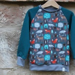 Forest Animals Sweater * * Wish Size * * Sweatshirt Top Raglan Pulli Kids Boys Girl Unisex Outdoor