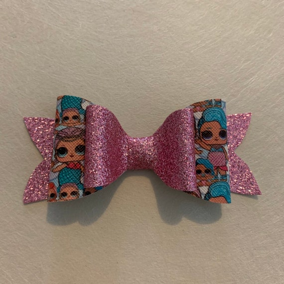 Lol Stacked Glitter Hair Bow