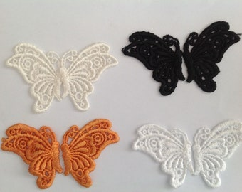"Next Style Rhinestones And Studs Pink Butterfly Iorn-On Applique 3.5/"" X 4.5/"""