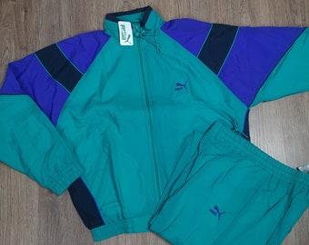 05e9072b44d5 Puma International Vintage 80 90s Tracksuit D7 Full Zip New Unisex  Multicolour M