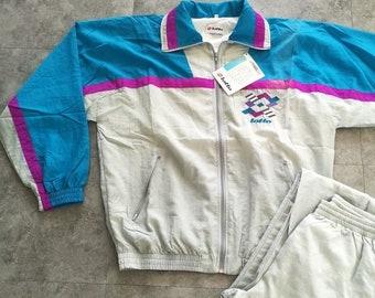 c301ce526b Lotto Apparel Vintage 80s 90s Trainingsanzug Hellgrau Blau Nylon Shell  Tracksuit Unisex M/L/xxl