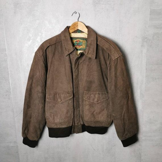 Rare! Brown Vintage Leather Jacket / USA Men's Vin