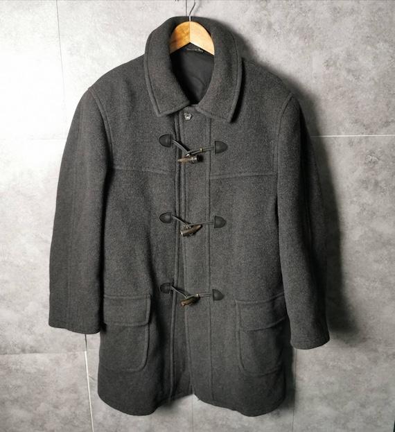 Mirko Valli Vintage Duffel Wool Coat Grey, Duffel