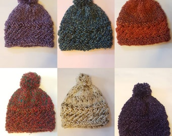 Warm Knit Winter Hat with Pom-Pom 89a342d7c151
