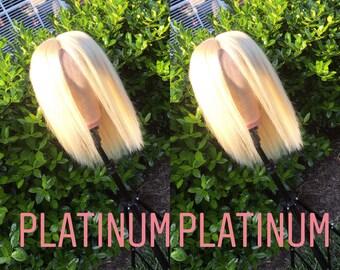 Platunum blonde frontal wig