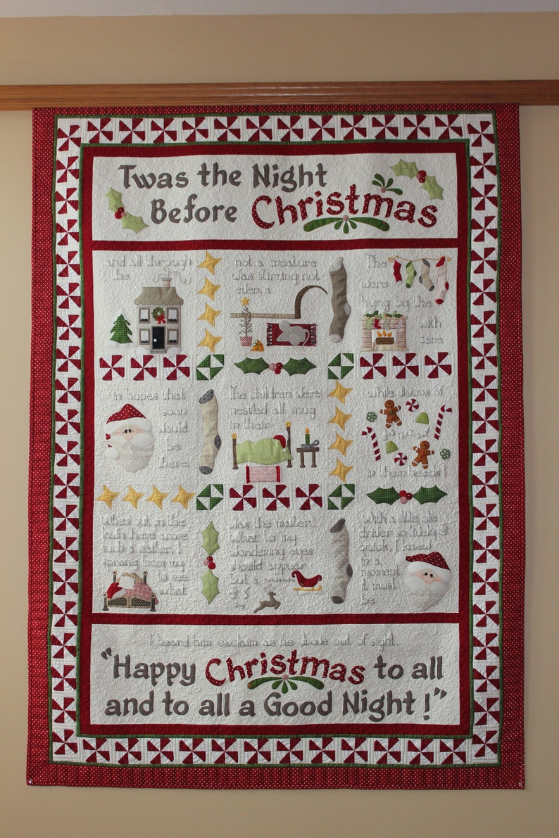 Christmas Quilt.Twas The Night Before Christmas Quilt Pattern