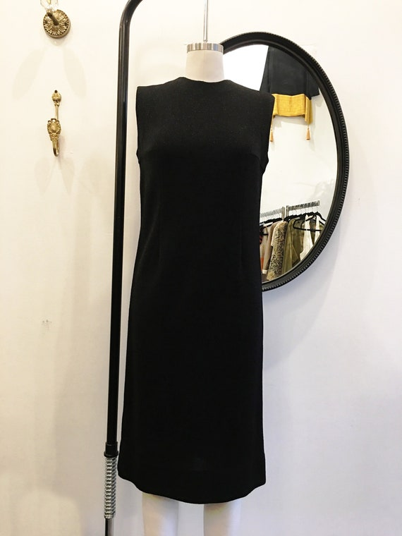 1960's Rudi Gernreich Black Knit Shimmer Dress