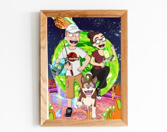 Rick and morty | Etsy