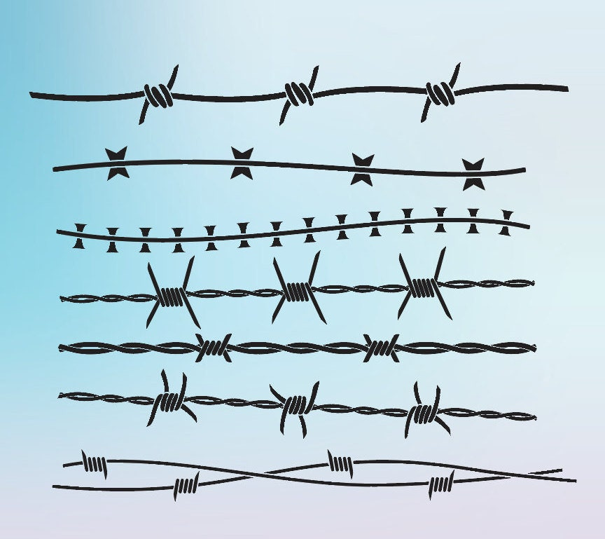 Grey Barb Wire Design - DATA WIRING •
