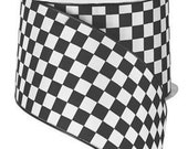 Black and White Check Wired Ribbon By the Roll 2.5 quot x 10 YARD ROLL RG1068X6