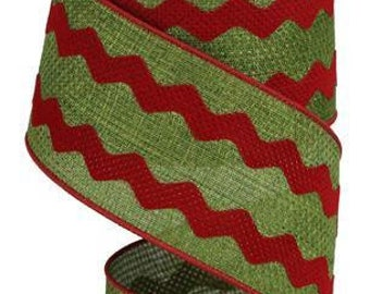 Spring Summer Wired Ribbon By the Roll 2.5 x 10 YARD ROLL RGA1205RD