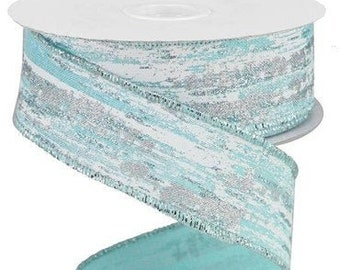 Metallic Birch Streaks Tinsel Wired Ribbon By the Roll 2.5 x 10 YARD ROLL RG0829627