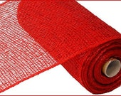 Red Poly Burlap Mesh 10 quot x 10 YARD ROLL RP810324
