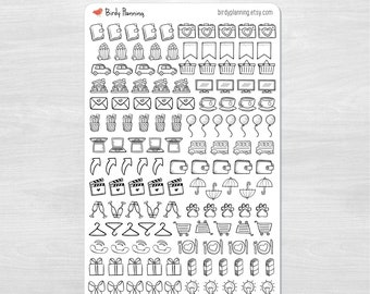 Icon Sampler Large Sheet - Planner Stickers - Birdy Planning