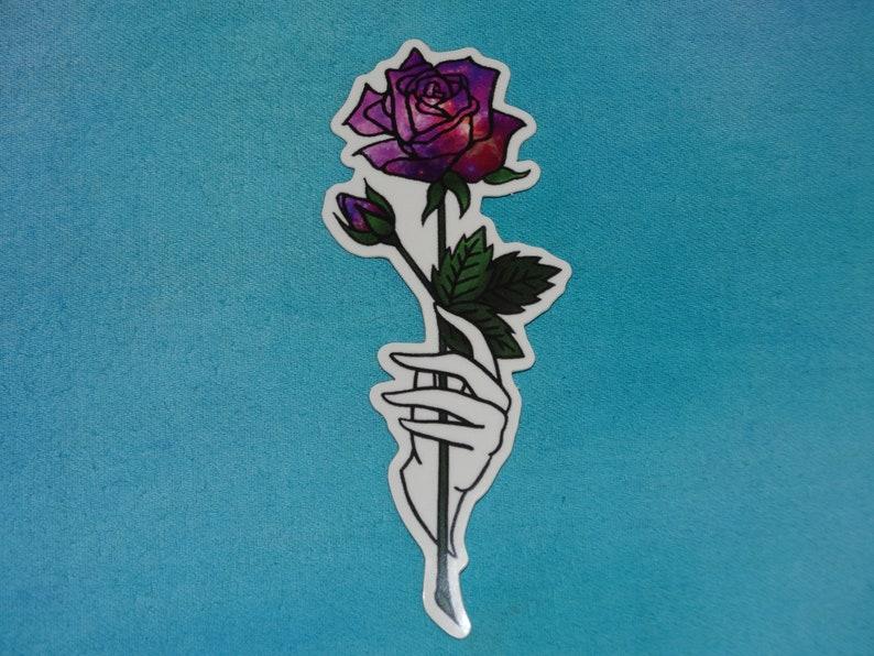 Galaxy Rose Aufkleber Niedlich Tumblr Etsy