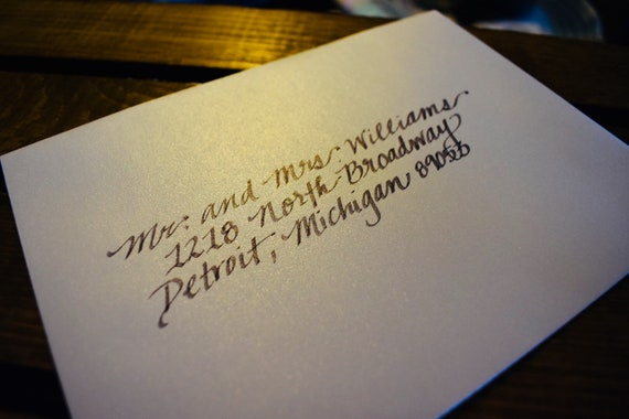 Cost Of Calligraphy For Wedding Invitations: Handwritten Wedding Invitations Calligraphy