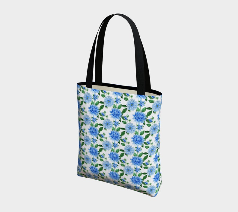 Urban Tote Bag Blue and White Floral Urban Tote Luxury Tote Gift for Mom Women/'s Purse Women/'s Handbag Basic Tote Gift for Her