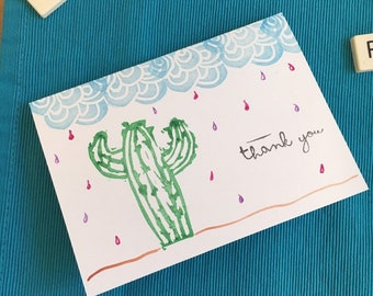 Set of 3 Cards - Thank you & greeting cards