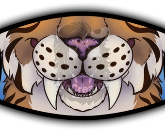 Saber Tooth Face Mask