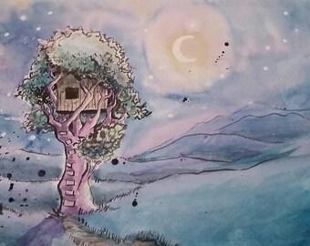 moonlit treehouse