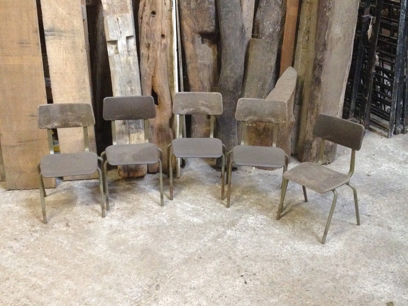 Pleasant Salvaged Chairs Childrens Stacking Chair Old Seats School Nursery By Pel Forme 1970S Retro Style Chairs Salvaged Brown Plastic Back Seat Download Free Architecture Designs Rallybritishbridgeorg