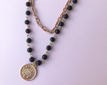 Chain Choker and Gold Coin