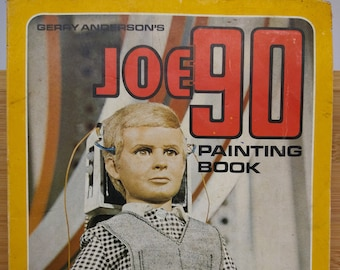 Gerry Anderson-Rare Joe 90 Painting Book/Colouring Book-Partially Filled 1968    Thunderbirds/Stingray