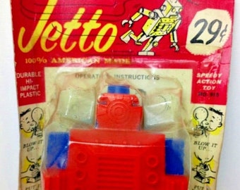 Jetto the Air Powered Robot. American- 1960/70s. Unopened/Carded Tri Play Toys