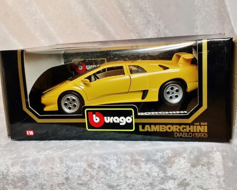 Bburago 3041 1 18 Diecast With Box Yellow Lamborghini Diablo 1990