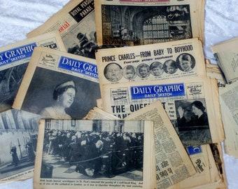Newspapers-1950s-Royalty-Death King George VI- Coronation Queen Elizabeth II etc
