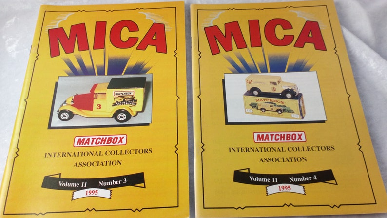 MICA-Matchbox International Collectors Association magazines volumes 10 and 11
