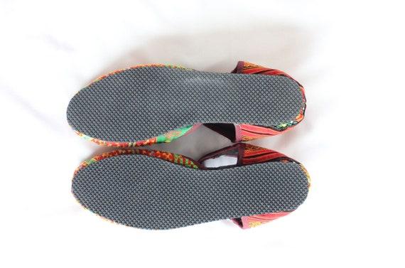 en chaussures Croix cousu FromThailand main traditionnel coton Summer en 9 Hmong dessus nbsp; tissu USA wZq7f7