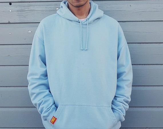 Plain Hoodie Light Blue