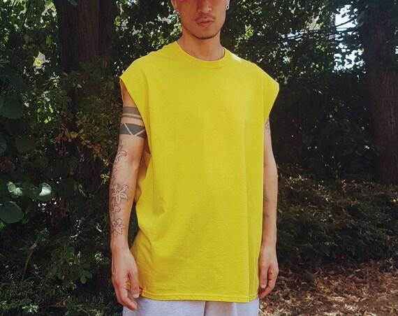 Massive Sleeveless Tee Yellow
