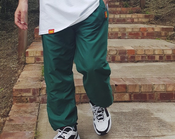 Baggy Track Trousers Forest Green