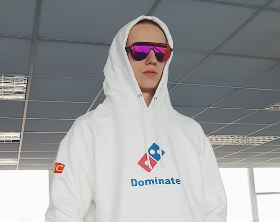 Dominate Hoodie White Oversized Fit